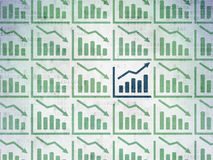 Finance concept: growth graph icon on Digital Royalty Free Stock Images