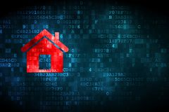 Finance concept: Home on digital background royalty free stock images