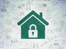 Finance concept: Home on Digital Paper background Stock Photos