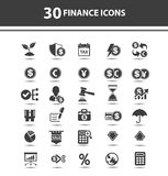 Finance concept icons. On white background,vector Royalty Free Stock Images