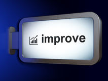 Finance concept: Improve and Growth Graph on billboard background Stock Photo