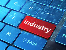 Finance concept: Industry on computer keyboard Stock Photography