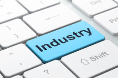 Finance concept: Industry on computer keyboard Royalty Free Stock Photography