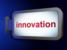 Finance concept: Innovation on billboard. Finance concept: Innovation on advertising billboard background, 3d render Royalty Free Stock Photos