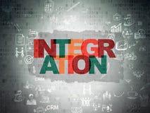 Finance concept: Integration on Digital Paper Stock Photo