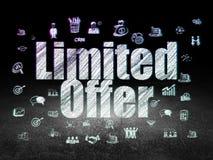 Finance concept: Limited Offer in grunge dark room Stock Photos