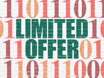 Finance concept: Limited Offer on wall background Royalty Free Stock Photography