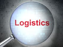 Finance concept: Logistics with optical glass stock photography