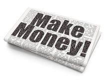 Finance concept: Make Money! on Newspaper background Stock Photography
