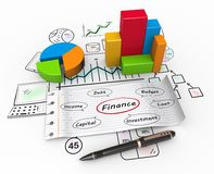 Finance concept Royalty Free Stock Images