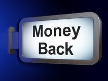 Finance concept: Money Back on billboard background. Finance concept: Money Back on advertising billboard background, 3D rendering Stock Photography
