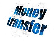 Finance concept: Money Transfer on Digital background. Finance concept: Pixelated blue text Money Transfer on Digital background Stock Photo