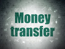 Finance concept: Money Transfer on Digital Paper Royalty Free Stock Images