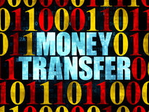 Finance concept: Money Transfer on Digital Stock Image
