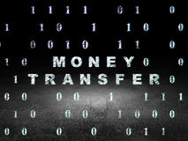 Finance concept: Money Transfer in grunge dark Stock Photo