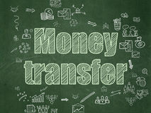 Finance concept: Money Transfer on School Board Stock Images