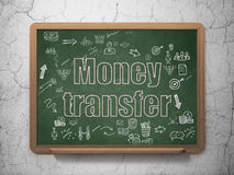 Finance concept: Money Transfer on School Board Stock Photo