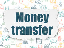 Finance concept: Money Transfer on Torn Paper Royalty Free Stock Image
