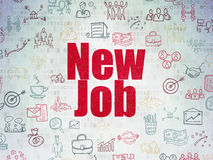 Finance concept: New Job on digital background Stock Photo