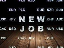 Finance concept: New Job in grunge dark room Stock Photos