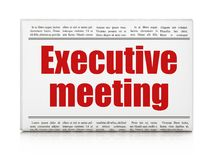 Finance concept: newspaper headline Executive Meeting. On White background, 3D rendering Stock Photos