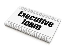 Finance concept: newspaper headline Executive Team. On White background, 3D rendering Stock Photos