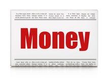 Finance concept: newspaper headline Money Royalty Free Stock Photo