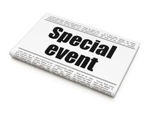 Finance concept: newspaper headline Special Event. On White background, 3D rendering Stock Photo