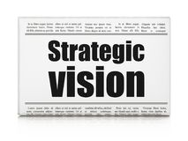 Finance concept: newspaper headline Strategic Vision. On White background, 3D rendering Royalty Free Stock Photography
