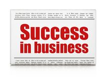 Finance concept: newspaper headline Success In business. On White background, 3D rendering Royalty Free Stock Photo