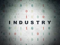 Finance concept: Industry on Digital Data Paper background. Finance concept: Painted black text Industry on Digital Data Paper background with Binary Code Royalty Free Stock Photos