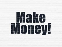 Finance concept: Make Money! on wall background. Finance concept: Painted black text Make Money! on White Brick wall background Stock Photo