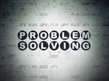 Finance concept: Problem Solving on Digital Data Paper background. Finance concept: Painted black text Problem Solving on Digital Data Paper background with Royalty Free Stock Photos