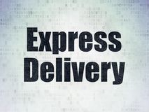 Finance concept: Express Delivery on Digital Data Paper background. Finance concept: Painted black word Express Delivery on Digital Data Paper background Royalty Free Stock Images