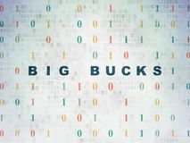 Finance concept: Big bucks on Digital Data Paper background Royalty Free Stock Photos