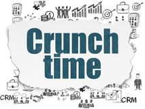 Finance concept: Crunch Time on Torn Paper background Stock Photography