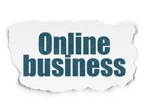 Finance concept: Online Business on Torn Paper background Royalty Free Stock Photography
