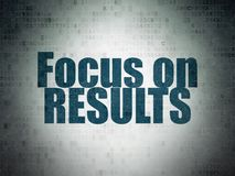 Finance concept: Focus on RESULTS on Digital Data Paper background. Finance concept: Painted blue word Focus on RESULTS on Digital Data Paper background Royalty Free Stock Photos
