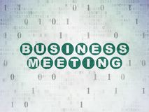 Finance concept: Business Meeting on Digital Data Paper background Stock Image
