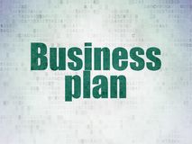 Finance concept: Business Plan on Digital Data Paper background. Finance concept: Painted green word Business Plan on Digital Data Paper background Royalty Free Stock Images