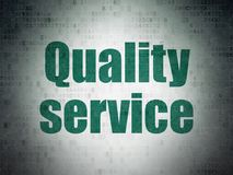 Finance concept: Quality Service on Digital Data Paper background. Finance concept: Painted green word Quality Service on Digital Data Paper background Royalty Free Stock Image