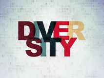 Finance concept: Diversity on Digital Data Paper background. Finance concept: Painted multicolor text Diversity on Digital Data Paper background Stock Images