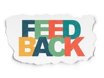 Finance concept: Feedback on Torn Paper background. Finance concept: Painted multicolor text Feedback on Torn Paper background Royalty Free Stock Image
