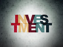 Finance concept: Investment on Digital Data Paper background Stock Photo