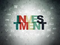 Finance concept: Investment on Digital Data Paper background Stock Images
