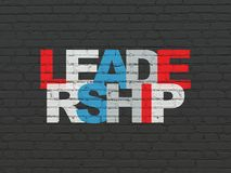 Finance concept: Leadership on wall background. Finance concept: Painted multicolor text Leadership on Black Brick wall background Royalty Free Stock Photography