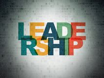 Finance concept: Leadership on Digital Data Paper background. Finance concept: Painted multicolor text Leadership on Digital Data Paper background Royalty Free Stock Images