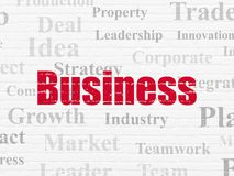 Finance concept: Business on wall background Stock Photo