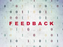 Finance concept: Feedback on Digital Data Paper background. Finance concept: Painted red text Feedback on Digital Data Paper background with Binary Code Royalty Free Stock Images