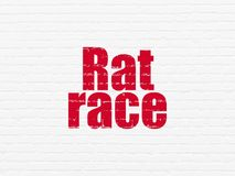 Finance concept: Rat Race on wall background. Finance concept: Painted red text Rat Race on White Brick wall background Stock Images